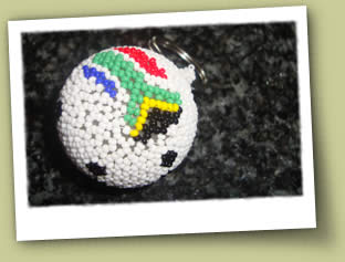 beaded soccer ball